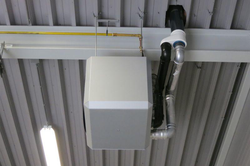 Heaters bedrijfshal